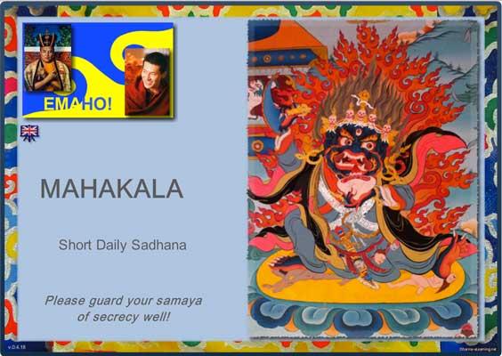 Dharma-eLearning module title Mahakala