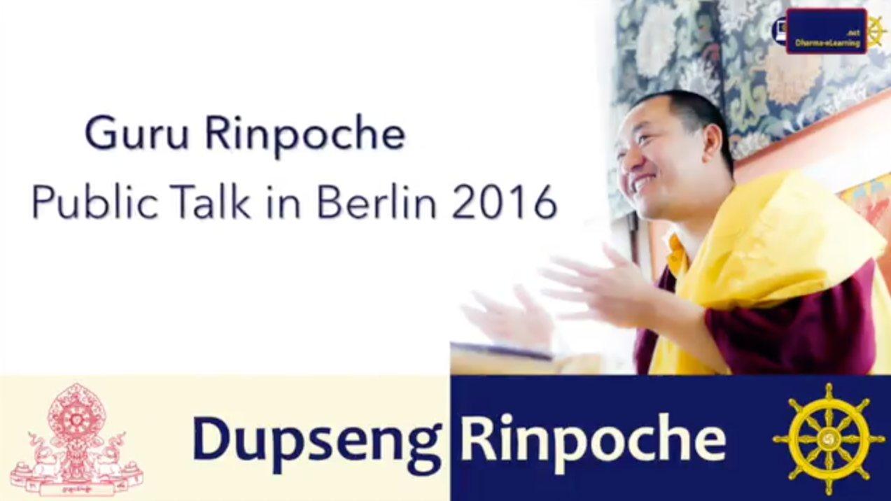 Guru Rinpoche - a public talk with Dupseng Rinpoche