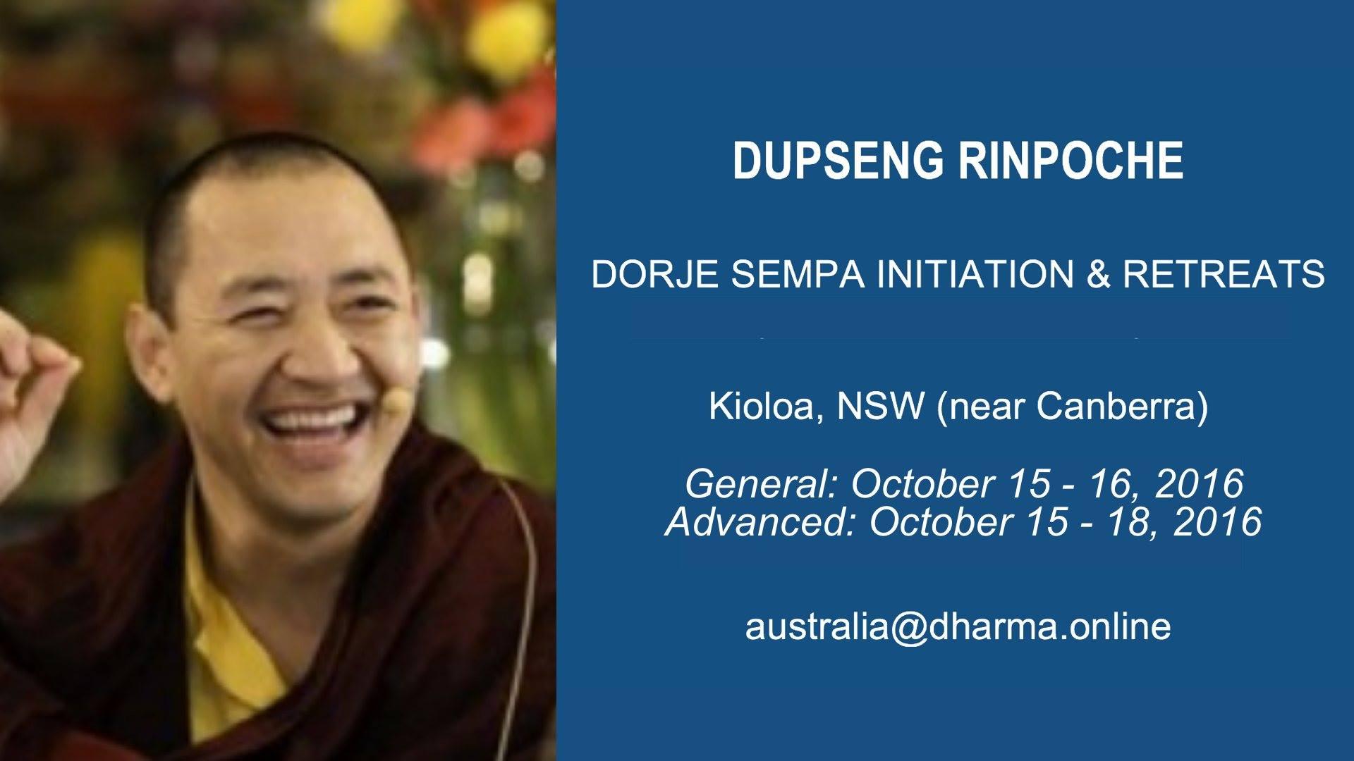 Dupseng Rinpoche Vajrasattva Australia 2016
